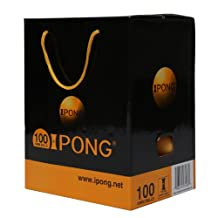 iPong Table Tennis Ball Set (100 Count, 2-Star Quality) - Orange