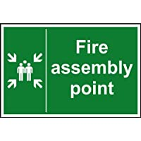 Fire assembly point Sign Dibond 300 x 200mm by UK Safety Signs