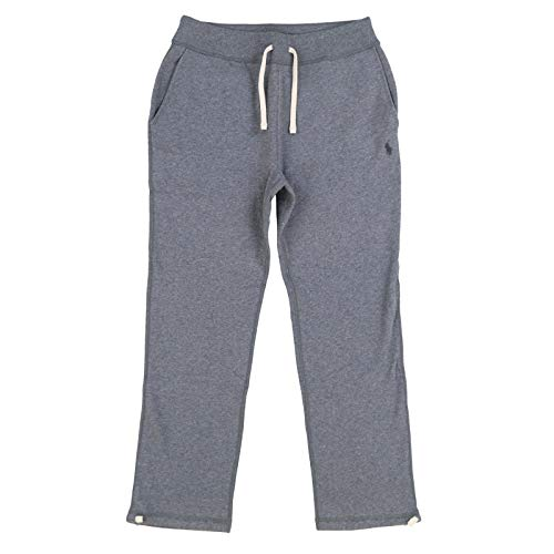 Polo Ralph Lauren Mens Fleece Athletic Pants (Large, Dark Grey Heather) (Ralph Mens Fleece Lauren)