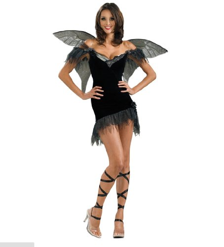 Secret Wishes Women's Enchanted Creature Adult Fairy Of Darkness Costume, Black, X-Small (Enchanted Wishes Costume)