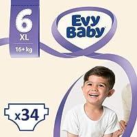 Evy Baby Bebek Bezi 6 Beden Ekstra Large Dev Paket, 34 Adet