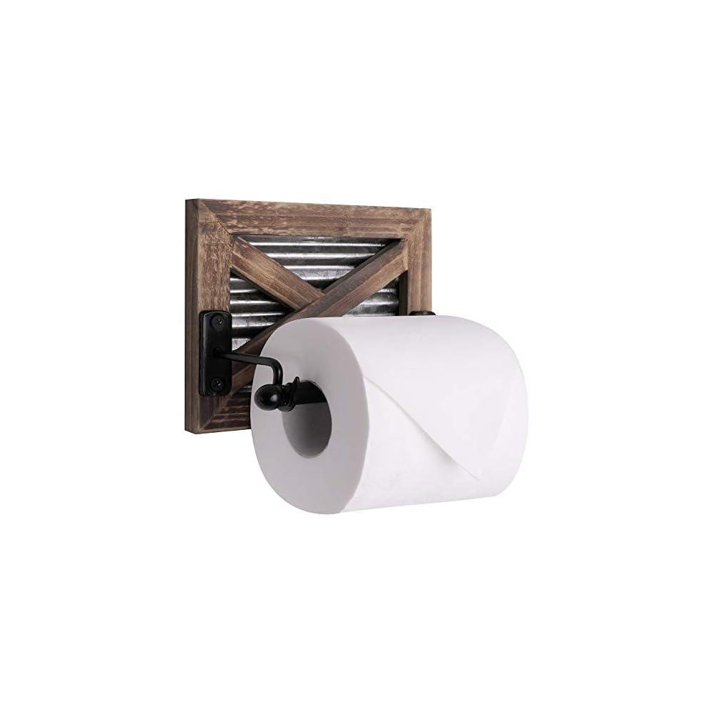 Autumn Alley Farmhouse Bathroom Toilet Paper Holder - Rustic Country Decor - Industrial Decorative Accessories - Warm…