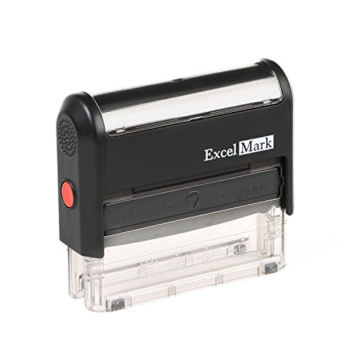 ExcelMark Custom 1 Line Self Inking Rubber Stamp - Home or Office - ()
