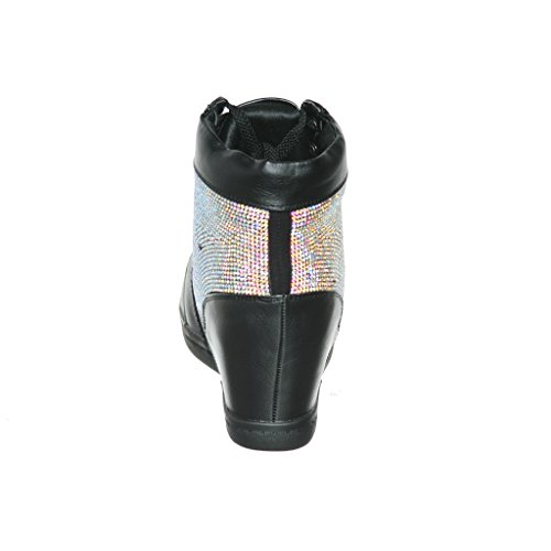 Shoewhatever Womens Metallic Glitter Scarpe Stringate Con Tacco Alto E Stringate Neres65