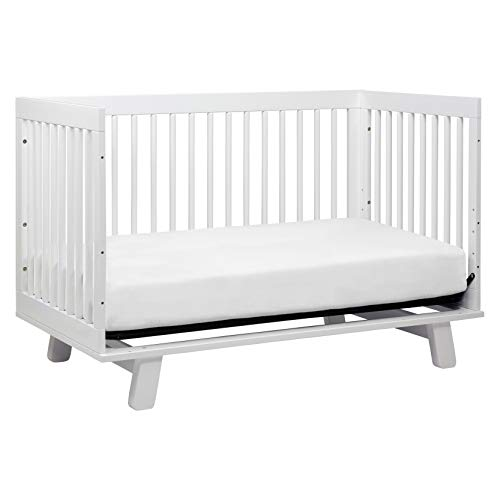 41LtvrDruZL - Babyletto Hudson 3-in-1 Convertible Crib With Toddler Bed Conversion Kit In White, Greenguard Gold Certified
