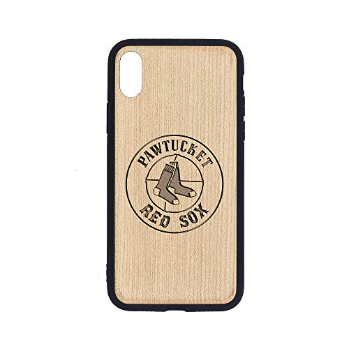 Logo PAWTUKET RED SOX - iPhone Xs MAX Case - Maple Premium Slim & Lightweight Traveler Wooden Protective Phone Case - Unique, Stylish & Eco-Friendly - Designed for iPhone Xs MAX