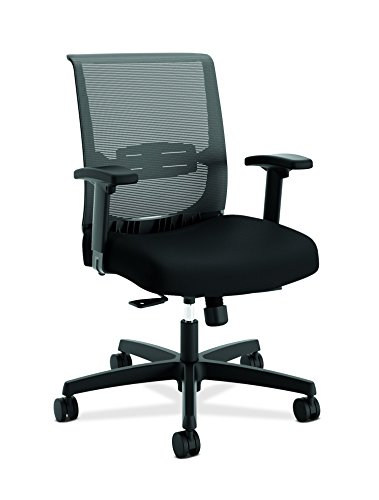 HON HONCMY1AACCF10 Convergence Task Chair, Synchro-Tilt with Seat Slide, Black Fabric