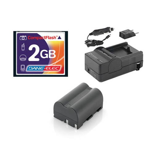 Nikon D70 Digital Camera Accessory Kit includes: T44654 Memory Card, SDENEL3A Battery, SDM-135 Charger