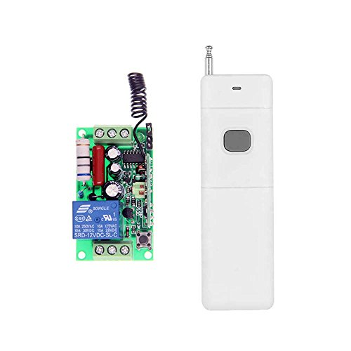 Abytele 3000m Long Distance AC 110V 1 CH 1CH RF Wireless Remote Control Switch System (1 Receiver + 1 Transmitter),433 MHz