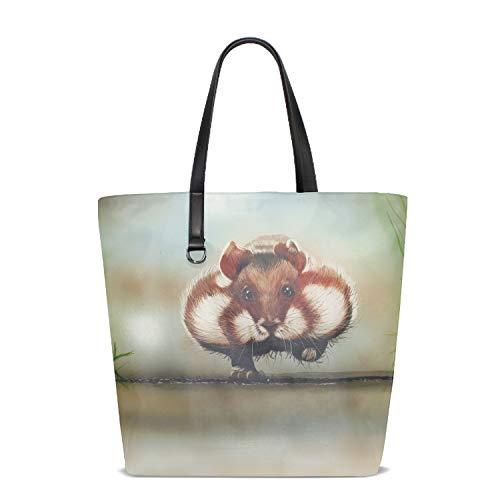 Women Fat Hamsters Large Beach Tote Bag Handbag