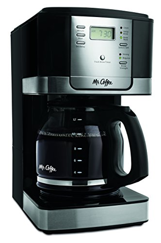 Mr. Coffee JWX27-NPA 12-Cup Programmable Coffeemaker, Black