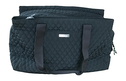 Vera Bradley Triple Compartment Travel Bag, Classic Black by Vera Bradley