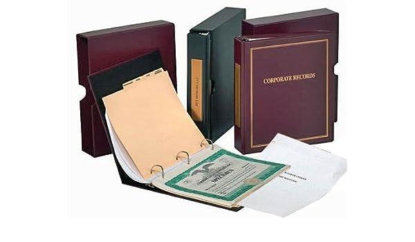 Conjunto de archivadores corporativos:Archivador, funda, protector de certificados de acciones y tabulador índice.: Amazon.es: Oficina y papelería