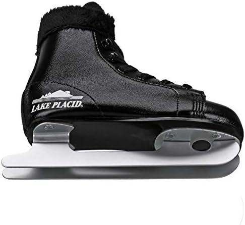 Lake Placid Starglide Boy's Double Runner Figure Ice Skate, Black