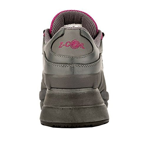 Z-CoiL Women's Freedom Slip Resistant Enclosed CoiL Fuchsia Leather Tennis Shoe 8 C/D US by Z-CoiL (Image #3)