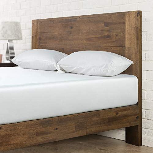 Zinus Tonja Platform Bed / Mattress Foundation / No Box Spring Required / Brown, Queen