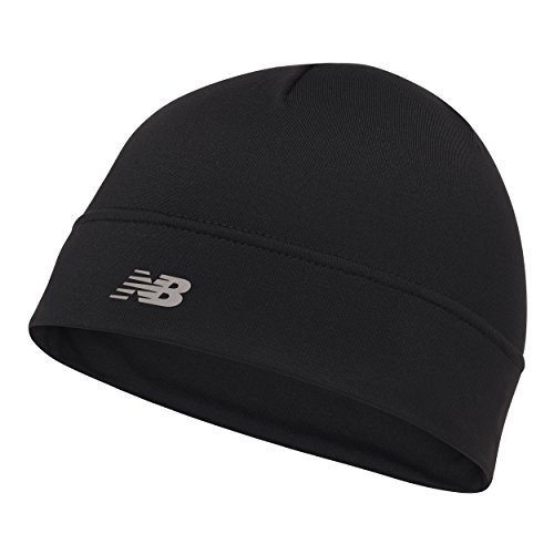 - New Balance Unisex Fleece Beanie, Black, One Size