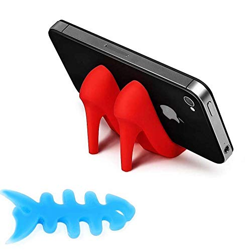 ZLMC High Heels Shoes Mobile Phone Stands Holder Creative Cute Mounts Stand for Cell Phone Cellphone Smartphone (Red)
