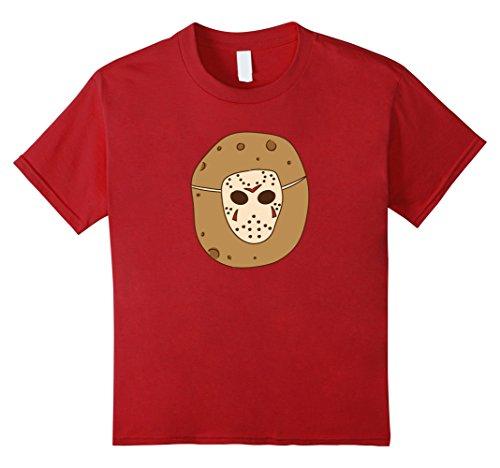 Kids Friday 13th Jason T-shirt Halloween Meme Potatoes Voorhees 12 Cranberry