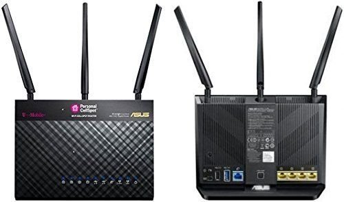 T-Mobile (AC-1900) By ASUS Wireless-AC1900 Dual-Band Gigabit Router, AiProtection with Trend Micro for Complete Network Security (Renewed) 1 2. Dual-band with the latest 802.11ac 3x3 technology for combined speeds of up to 1900 Mbps 3. 1 GHz Dual-core CPU enables smart multitasking by dedicating separate lanes for Wifi and USB data 4. Efortless router setup with the ASUSWRT web-based interface, you can Monitor and manage your network with ease from your mobile device using the intuitive ASUS Router App,