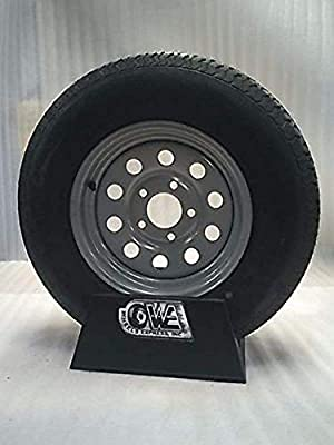 14 Inch 5 on 4.5 Silver Modular Wheel Mounted With st215 75 R14 Radial Tire