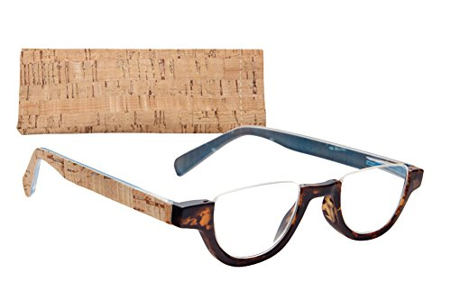 Half Rim (Half-Rim Women's Reading Glasses with Cork Coated Temples (3.00,)