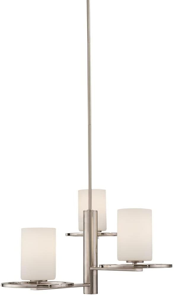Home Decorators Collection 27263 3-Light Polished and Brushed Nickel Chandelier