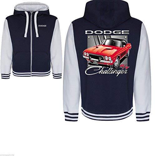 DODGE Challenger Varsity Hoody zipper Jacket Licenced American Mopar Muscle Car