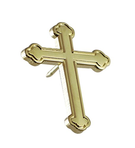 Forge Gold Ornate Cross Religious Lapel Pin- 1 Piece ()