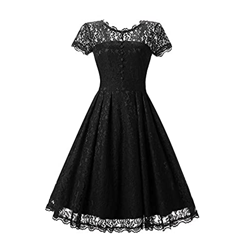 88f3f385812c LanierWedding Womens Floral Lace Prom Dresses Short 2017 Cap Sleeve Retro  Vintage Swing Dress Cocktail Dresses