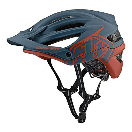 Troy Lee Designs Adult | Trail | Enduro | Half Shell A2 Decoy Mountain Biking Helmet with MIPS (X-Large/XX-Large, Air Force Blue/Clay)