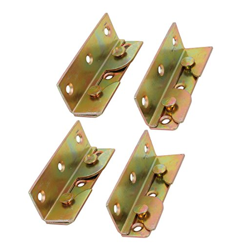 Bronze Fixed Rail - uxcell® 79mmx25mmx23mm Screw Fixed Bed Hinge Rail Brackets Connecting Fittings 4 Sets