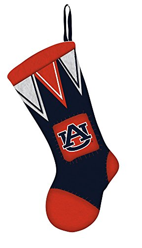 Team Sports America Auburn Microfleece Christmas Stocking - Auburn Santa