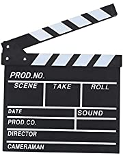 Professional Vintage Action Scene Clapperboard TV Movie Film Clap Board Slate Cut Prop Hollywood Director Clapper Wooden Director's Movie Clapper Board