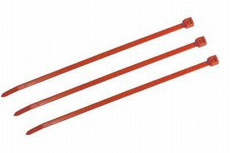 """4"""" Plenum Rated Cable Ties-Red -100 per Bag - 18LBS"""