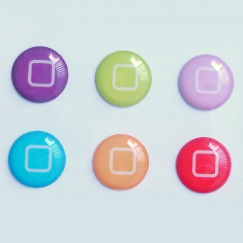 SODIAL(TM) 6pcs New Style Bottons Designs Home Button Stickers for iPad ipod iphone