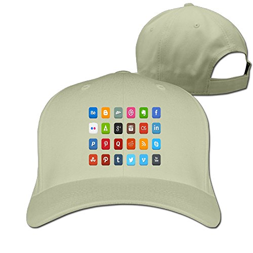 Gameser Vintage Unisex-Adult Undertale Role-playing Video Game Social Icons Sun Head-wear Natural