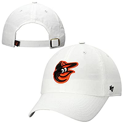 Baltimore Orioles '47 Brand Basic Logo Clean Up Head Adjustable Hat White