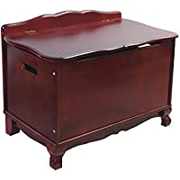 Guidecraft Classic Espresso - Dark Cherry Toy Box - Trunk & Chest Kids Storage Furniture
