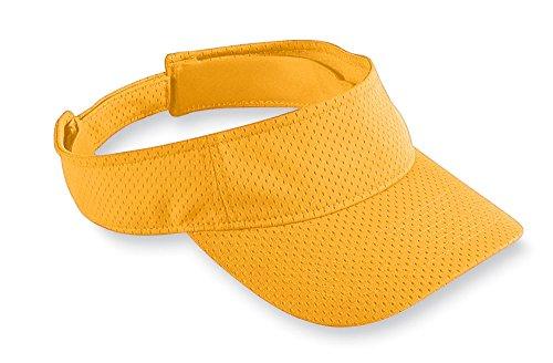 augusta-sportswear-adult-athletic-mesh-visor-os-gold