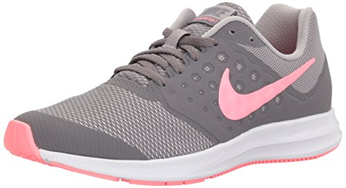 NIKE nữ bán chạy tại Mỹ/ Nữ nike girls' downshifter 7 (gs) running shoe, gunsmoke/sunset pulse-atmosphere grey, 3.5 m us big kid