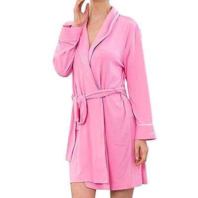 Goldweather Women Cotton Bathrobe, Women Ultra-Soft Sleepwear Loungewear Bath Spa Pajamas Nightwear Robe Sleepwear