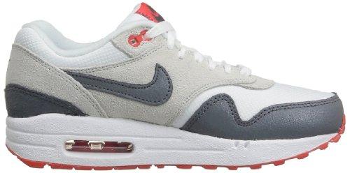 Nike Wmns Air Max 1 599820 Essentiels Damen Chaussure Basse-top Mehrfarbig 36.0eu / 22.5cm Weiss (gris Clair Rouge)