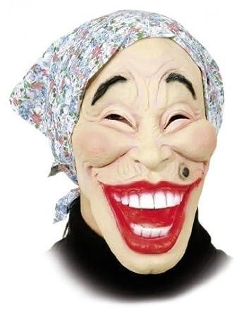 Orlob Maske Alte Frau Mit Kopftuch Zum Kostum Halloween Karneval
