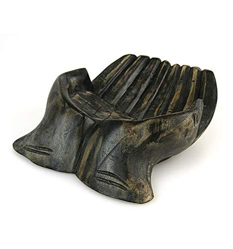 Artisanal Escultura Manos en Madera. Vide-poche/ - Soporte ...