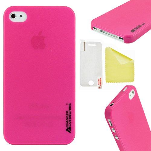 Advanced Accessories Ghost Gel-Schutzhülle für iPhone4/4S, Hot Pink