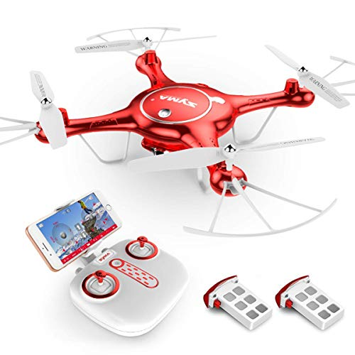 Goolsky Compatible with Drone Syma X5UW Drone WiFi FPV 720P HD Camera with Barometer Set Height Function and One Extra Battery RTF RC Quadcopter