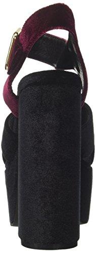 Donna Jeffrey Tacco wine Campbell Multicolore black 16f021 Con Velvet Sandali PYPrq