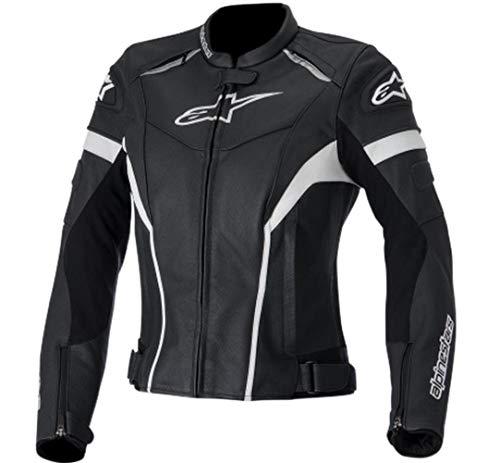 Alpinestars Women's Stella GP Plus R Leather Jacket (40) (BLACK/WHITE)