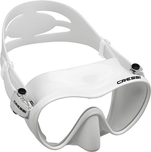 Cressi Sub Goggles - Cressi F1 Frameless Mask, White